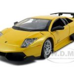 2010 Lamborghini Murcielago LP 670-4 SV Yellow 1/24 Diecast Model Car by Bburago