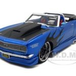 1968 Chevrolet Camaro SS Convertible Blue Pro Rodz 1/24 Diecast Model Car by Maisto