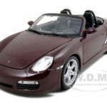Porsche Boxster S Burgundy 1/18 Diecast Model Car by Maisto