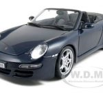 Porsche 911 997 Carrera S Blue Cabriolet 1/18 Diecast Model Car by Maisto