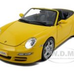 Porsche 911 997 Carrera S Cabrio Yellow 1/18 Diecast Model Car by Maisto