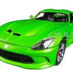 2013 Dodge Viper GTS Green 1/18 Diecast Car Model by Maisto