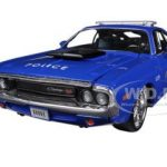 1970 Dodge Challenger R/T Coupe Police Blue All Stars 1/24 Diecast Model Car by Maisto Maisto