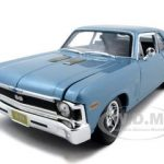 1970 Chevrolet Nova SS Coupe Blue 1/18  Diecast Model Car by Maisto