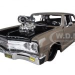 1965 Chevrolet Malibu SS Grey Classic Muscle 1/24 Diecast Model Car by Maisto