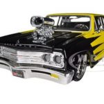 1965 Chevrolet Malibu SS Yellow With Black All Stars 1/24 Diecast Model Car  by Maisto