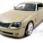 Chrysler Crossfire Gold 1/18 Diecast Model Car by Maisto