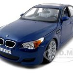 BMW M5 E60 Blue 1/18 Diecast Model Car by Maisto