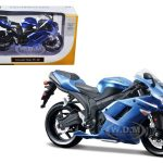 Kawasaki Ninja ZX-6R Blue Bike Motorcycle Model 1/12 by Maisto