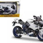 BMW HP2 Sport White/Black Motorcycle 1/12 Diecast Model by Maisto
