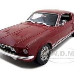 1967 Ford Mustang Fastback GTA Red  1/18 Diecast Model Car by Maisto