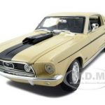 1968 Ford Mustang CJ Cobra Jet Yellow 1/18 Diecast Model Car by Maisto