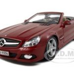 2010 2011 Mercedes SL 550 Convertible Dark Red 1/18 Diecast Model Car by Maisto