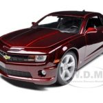 2010 Chevrolet Camaro SS RS Burgundy 1/18 Diecast  Model Car by Maisto