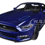2015 Ford Mustang GT 5.0 Blue 1/18 Diecast Car Model by Maisto