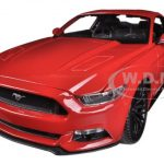 2015 Ford Mustang GT 5.0 Red 1/18 Diecast Car Model by Maisto