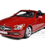 2011 2012 Mercedes SLK Class Convertible Red 1/24 Diecast Model Car by Maisto
