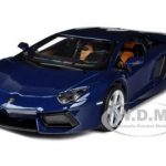 2011 2012 Lamborghini Aventador LP700-4 Blue 1/24 Diecast Model Car by Maisto