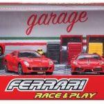 Ferrari Race and Play Garage Set with 4 Ferrari Cars 1/43 by Bburago