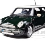 Mini Cooper Green 1/24 Diecast  Model Car by Maisto