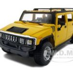 2003 Hummer H2 SUV Yellow 1/27 Diecast Model Car by Maisto