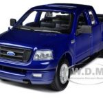 2004 Ford F-150 FX4 Pickup Truck Metallic Blue 1/31 Diecast Model by Maisto