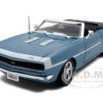 1968 Chevrolet Camaro SS 396 Blue 1/24 Convertible Diecast Model Car by Maisto