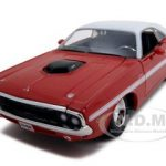 1970 Dodge Challenger R/T Coupe Red 1/24 Diecast Model Car by Maisto