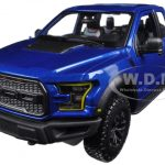 2017 Ford Raptor Pickup Truck Blue 1/24 Diecast Model Car by Maisto