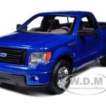 2010 Ford F-150 STX Pickup Truck Blue 1/27 Diecast Model by Maisto