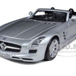 Mercedes SLS AMG Roadster Silver 1/24 Diecast Model Car by Maisto