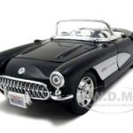 1957 Chevrolet Corvette Black 1/24 Diecast Model Car by Maisto