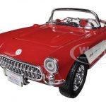 1957 Chevrolet Corvette Red 1/24 Diecast Car Model by Maisto