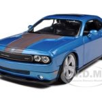 2008 Dodge Challenger SRT8 Blue 1/24 Diecast Model Car by Maisto