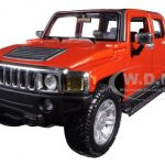 2009 Hummer H3T Orange 1/26 Diecast Model Car by Maisto