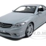Mercedes CL63 AMG Silver 1/24 Diecast Model Car by Maisto