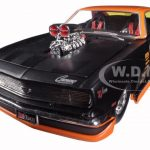 1968 Chevrolet Camaro Z/28 Pro Street Black/Orange 1/24 Diecast Car Model by Maisto