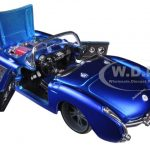 1957 Chevrolet Corvette Blue Custom 1/24 Diecast Model Car by Maisto