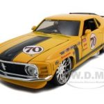 1970 Ford Mustang Boss 302  #70 Yellow Pro Rodz 1/24 Diecast Model Car by Maisto