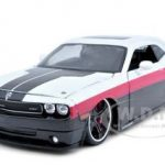2008 Dodge Challenger SRT8 Red/White/Black Custom 1/24 Diecast Model Car by Maisto