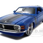 1970 Ford Mustang Boss 302  Blue Pro Rodz 1/24 Diecast Model Car by Maisto