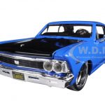 1966 Chevrolet Chevelle SS 396 Blue Classic Muscle 1/24 Diecast Model Car by Maisto