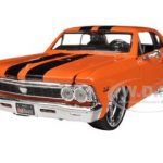 1966 Chevrolet Chevelle SS 396 Orange All Stars 1/24 Diecast Model Car by Maisto