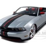 2010 Ford Mustang GT Convertible Silver Pro Rodz 1/18 Diecast Model Car by Maisto