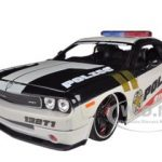 2010 Dodge Challenger Police White Custom 1/24 Diecast Model Car by Maisto
