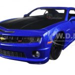 2010 Chevrolet Camaro SS RS Metallic Blue with Matt Black Hood Modern Muscle 1/24 Diecast Model Car by Maisto