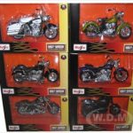 Harley Davidson Motorcycle 6pc Set Series 29 1/18 by Maisto