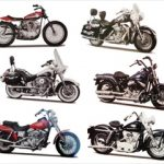 Harley Davidson Motorcycle 6pc Set Series 30 1/18 by Maisto