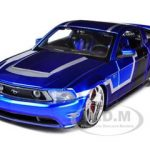 2011 Ford Mustang GT Blue Custom 1/24 Diecast Model Car by Maisto
