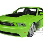 2011 Ford Mustang GT Green All Stars 1/24 Diecast Model Car by Maisto